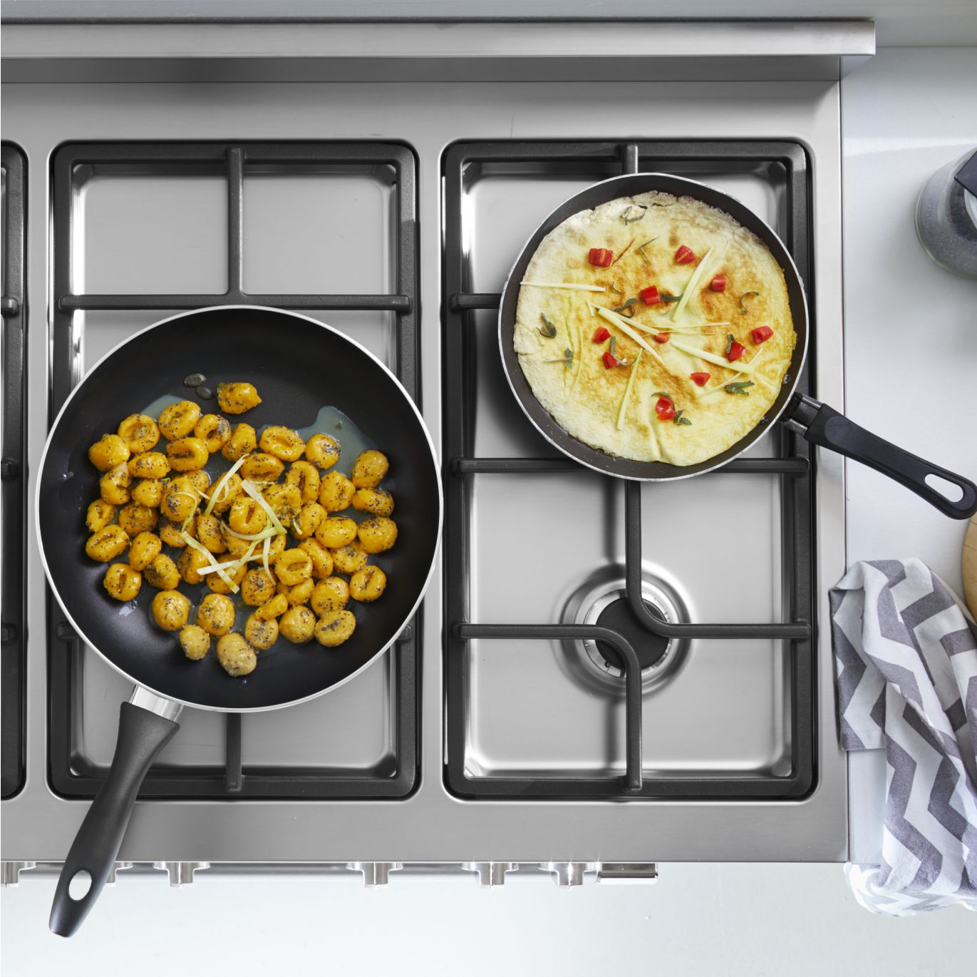 Gas Stove top Cooking